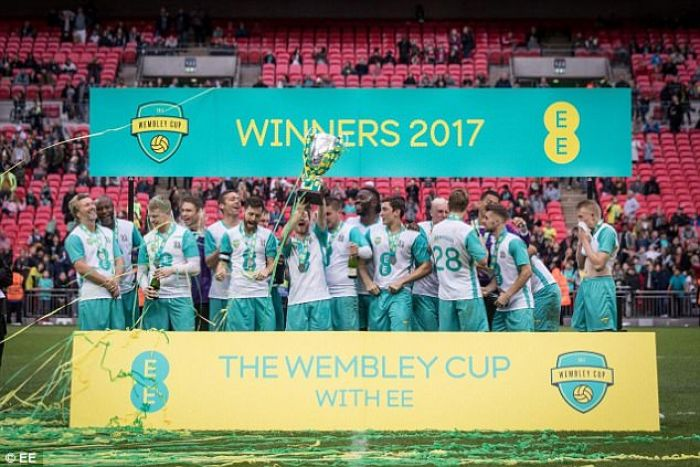 William Gallas helps Hashtag United to victory in the EE Wembley Cup