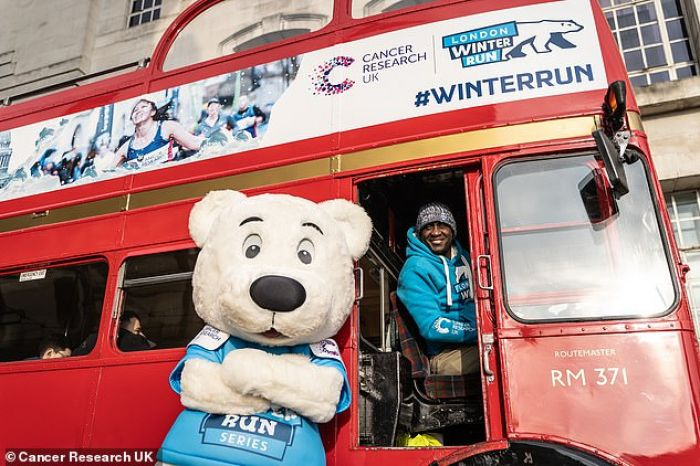 Emile Heskey 'leads  the line' for Cancer Research UK