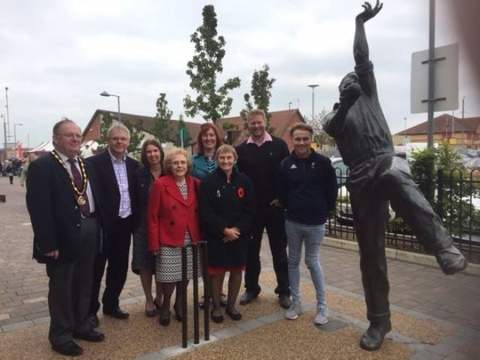 Matthew Hoggard appears at Cricket Legends statue unveiling