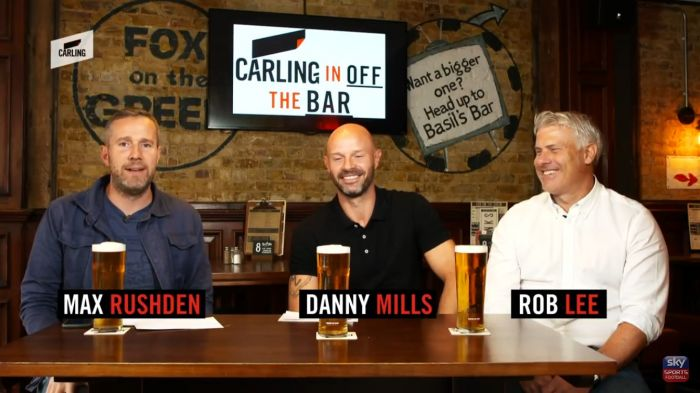 Danny Mills strikes In off the Bar for Carling & Sky Sports
