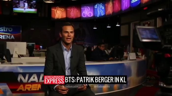 Behind the scenes in Malaysia with Patrik Berger
