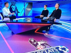 Leicester City & Wales midfielder Andy King enjoys his studio debut for Premier League TV