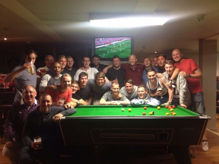 Geoff Horsfield joins Stag Party celebrations