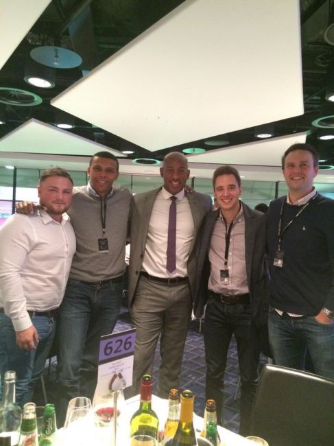 Dion Dublin hosts hospitality guests at Wembley Stadium
