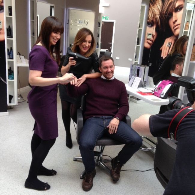 Emmerdale Star Anthony Quinlan is pampered at Beauty Salon