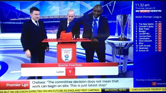 Shaun Goater makes Live TV Cup Draw