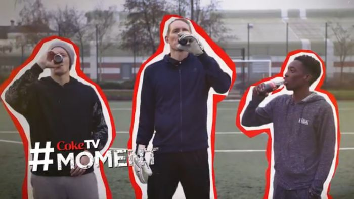 Chris Kirkland 'Tastes the Feeling' for Coke TV Filming