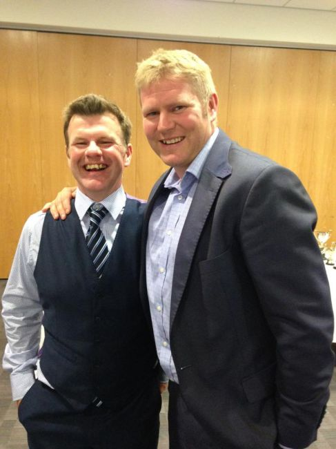 Matthew Hoggard 'Bowls' them over at Shrewsbury Dinner